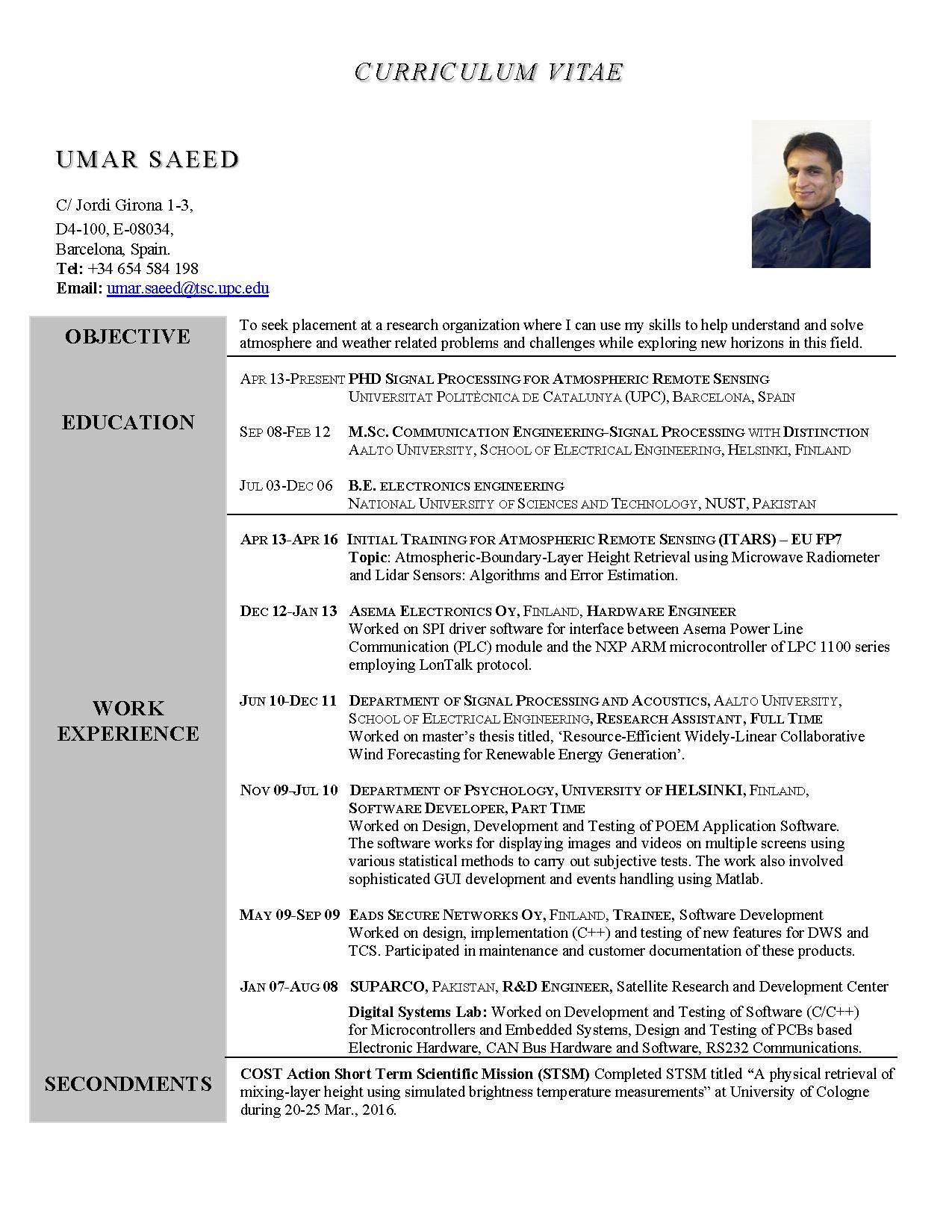 CV Saeed Page 1